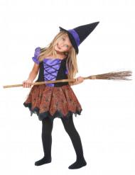 Disfarce de bruxa menina lilás