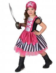 Disfarce pirata cor de rosa menina
