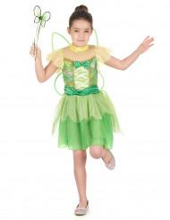 Disfarce fada verde com desenhos menina