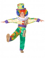 Disfarce de palhaço colorido menino