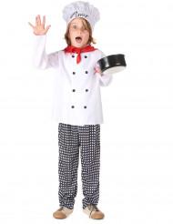 Disfarce de chefe de cozinha para menino