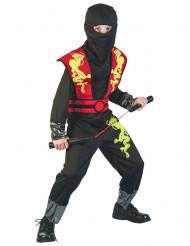 Disfarce de ninja rapaz