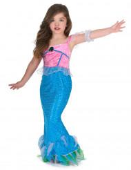 Disfarce sereia azul e cor-de-rosa Menina