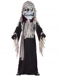 Disfarce esqueleto com máscara menino
