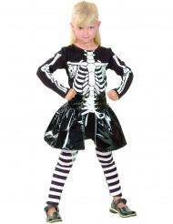 Disfarce de esqueleto menina