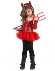 Fato de diabinha menina