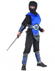 Disfarce azul de ninja para menino
