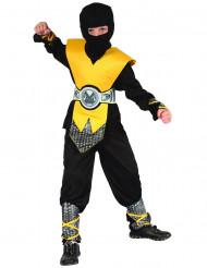 Disfarce ninja amarelo menino