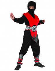 Disfarce de ninja vermelho menino