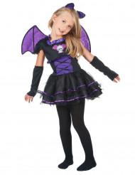 Disfarce morcego menina