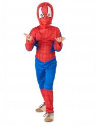 Disfarce homem aranha menino