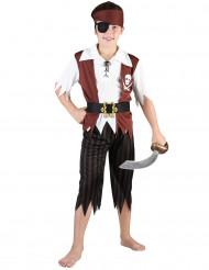 Disfarce pirata preto e branco menino