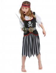 Disfarce de pirata menina