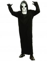 Disfarce esqueleto menino