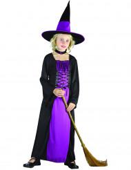 Disfarce bruxa roxo menina