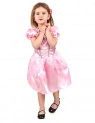 Disfarce de princesa cor de rosa menina