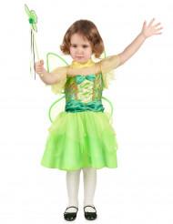 Disfarce fada verde e amarela menina