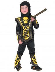Disfarce de ninja amarelo menino