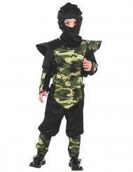 Disfarce ninja militar menino