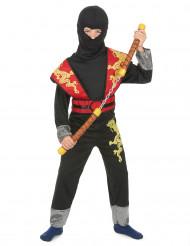 Disfarce de ninja amarelo e amarelo menino