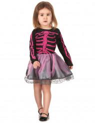 Disfarce esqueleto menina