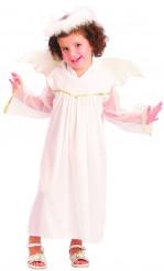 Disfarce anjo branco menina