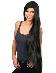 Peruca cabelos compridos preta Mulher