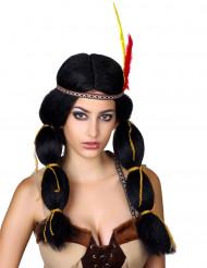 Peruca de índio mulher