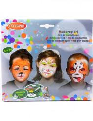 Kit de pinturas 6 cores animais