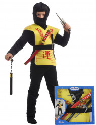 Kit acessórios ninja amarelo
