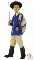Disfarce príncipe de cor azul menino