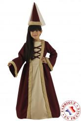 Disfarce dama medieval menina