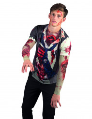 T-shirt zumbi adulto Halloween