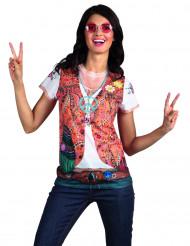 T-shirt casaco Hippie mulher