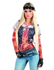 T-shirt rock mulher