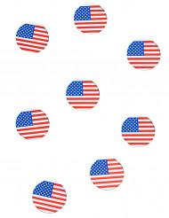 150 confetis de mesa bandeira USA