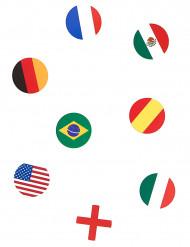 150 confetis de mesa bandeiras multinacionais