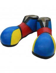 Sapatos de palhaço azul