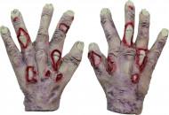 Mãos de zombie vampiro adulto