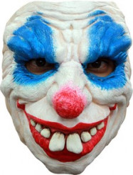 Meia máscara palhaço diabólico adulto