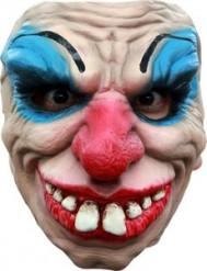 Meia máscara palhaço terrífico adulto