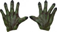 Mãos de monstro verde homem