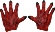 Mãos de monstro vermelho homem