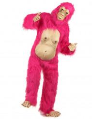 Disfarce gorila cor-de-rosa adulto