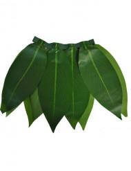 Saia havaiana de folhas verdes criança