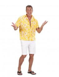 Camisa havaiana amarela homem