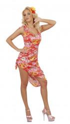 Disfarce havaiana palmeiras mulher
