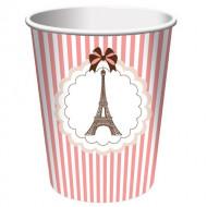8 Copos Torre Eiffel