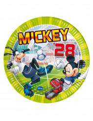8 pratos Mickey futebol™