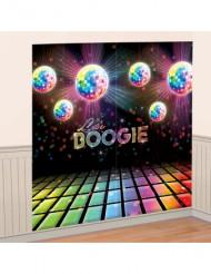 Decoração mural bola de discoteca 165 x 165 cm